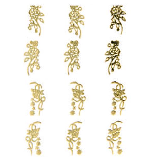 Наклейка для ногтей 101 Орнамент золотой