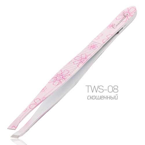 TWS-08 Пинцет цветной скошенный Cosmake