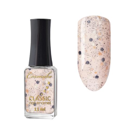08 Лак для ногтей CLASSIC Cosmake 11мл Бежевый с блестками