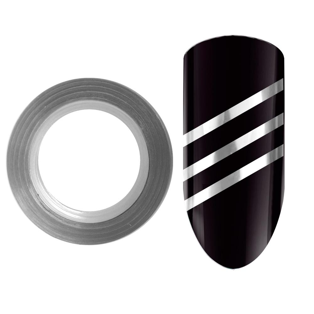 02 Лента для дизайна ногтей Color Line Серебро