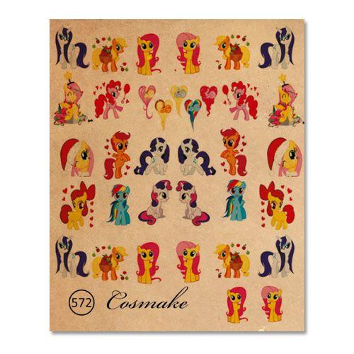 572 Фотодизайн для ногтей Cosmake little poni mix