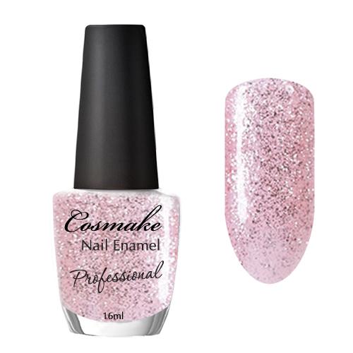 Лак для ногтей 13 Розовый с блестками