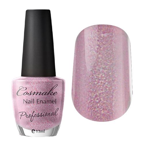 22 Лак для ногтей Professional Cosmake 16мл Бледно-Розовый с блестками