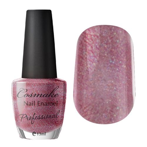 Лак для ногтей 23 Темно-Розовый с блестками