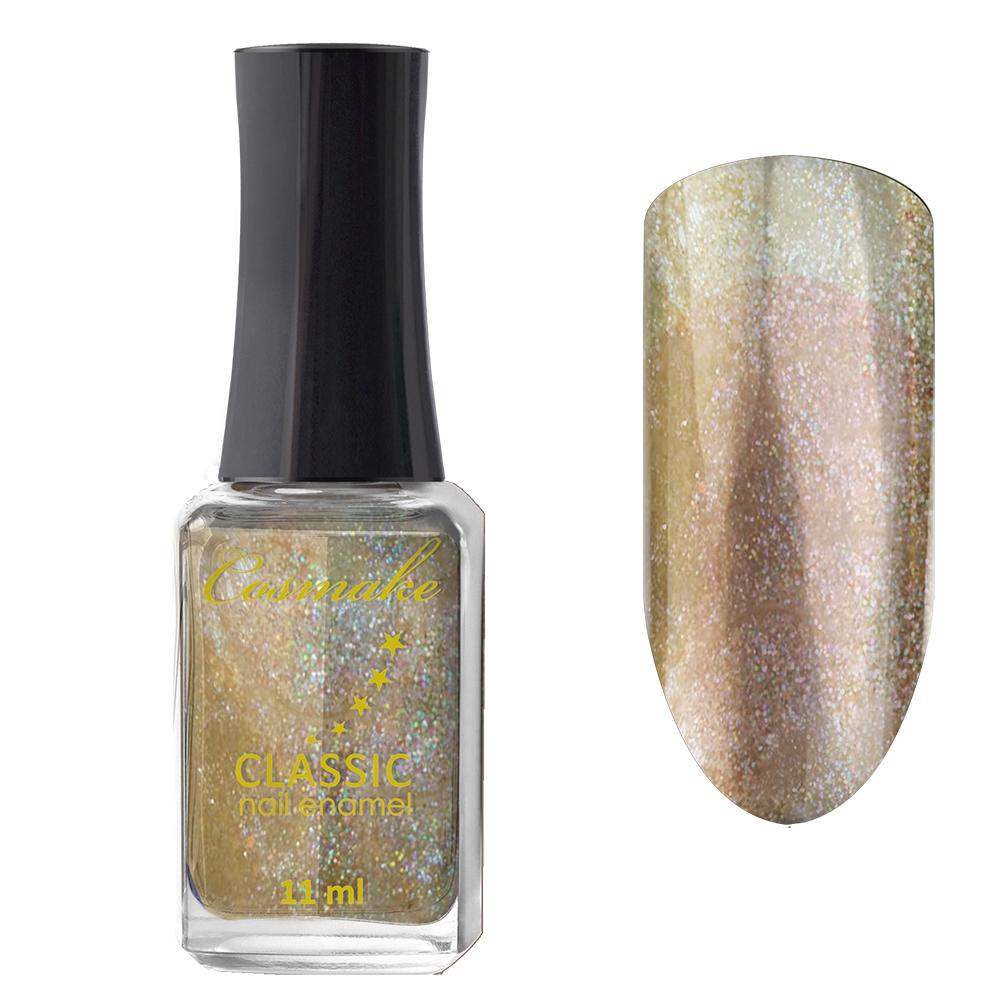 56 Лак для ногтей Cosmake CLASSIC 11 мл Прозрачный с золотым шиммером