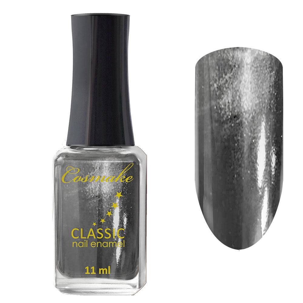 71 Лак для ногтей Cosmake CLASSIC 11 мл Темно-Серый с блестками