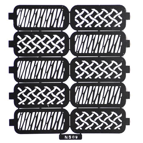 06 Трафарет для дизайна ногтей плетение