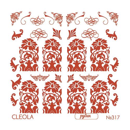 Слайдер Дизайн фольгированный красные317  Cleola