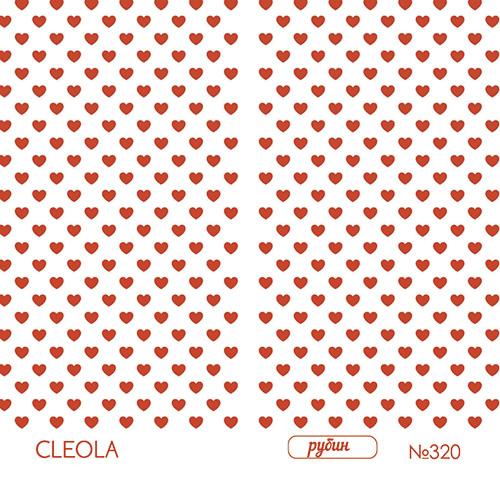 Слайдер Дизайн фольгированный красные 320 Cleola