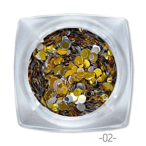 02 конфетти для дизайна ногтей Круглые