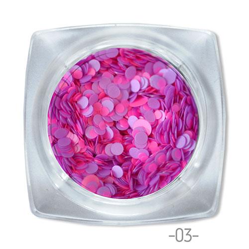 03 конфетти для дизайна ногтей Круглые
