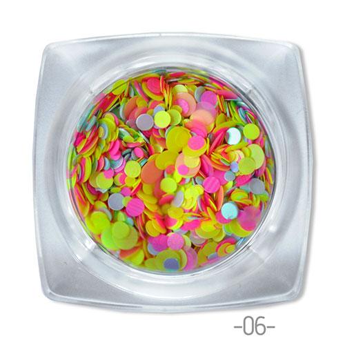 06 конфетти для дизайна ногтей Круглые