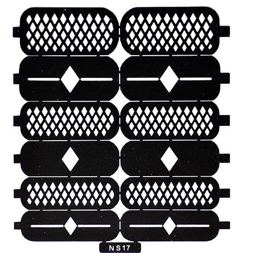 13 Трафарет для дизайна ногтей ромбы