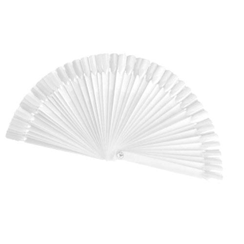 Палитра для лаков прозрачная веер, 50 шт