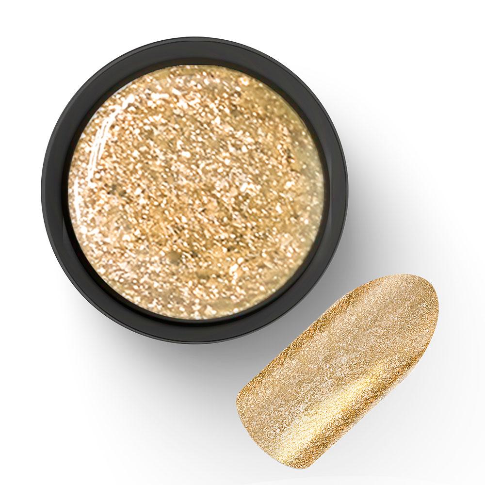 Гель-лак с блёстками золото Diamond 04 5г Cosmake