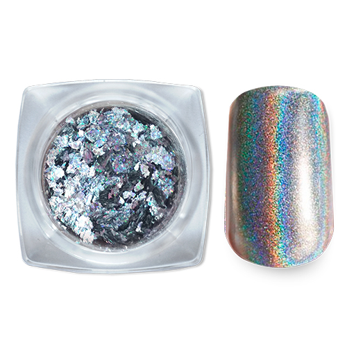 002 Зеркальный блеск Павлин серебро 0,5гр Cosmake