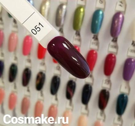 0051 Гель-лак с липким слоем 11мл Cosmake Бордово-Фиолетовый