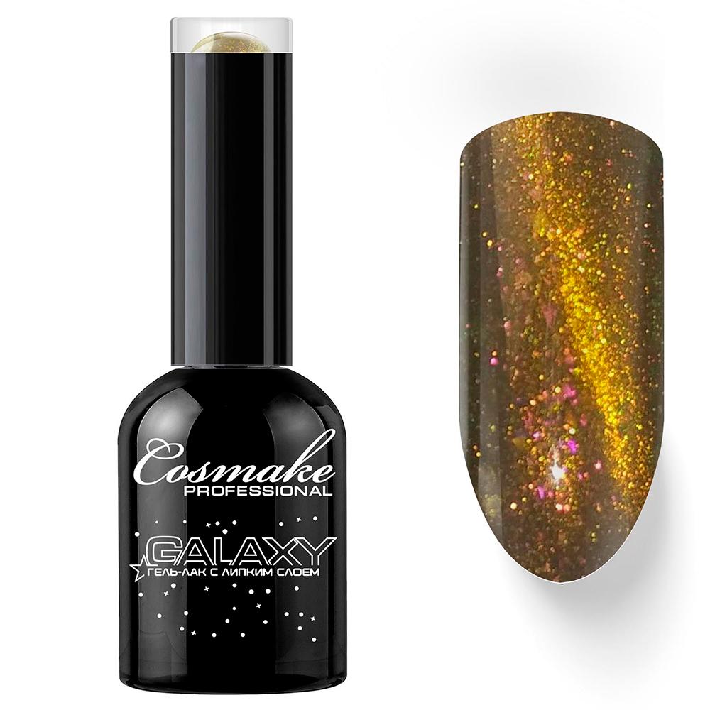 30 Гель-лак кошачий глаз Галактика 11мл Cosmake Золотой