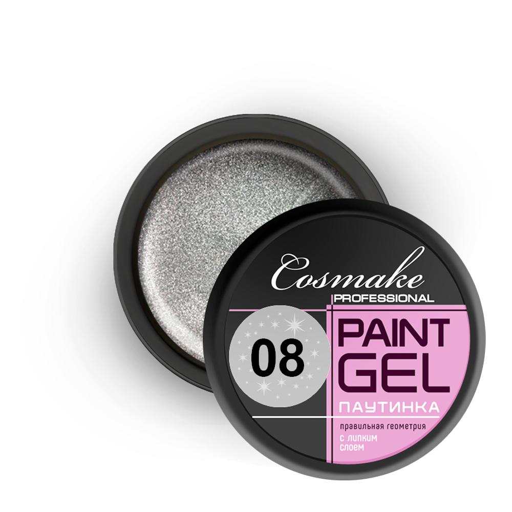 108 Гель-краска Паутинка 5г серебро Cosmake