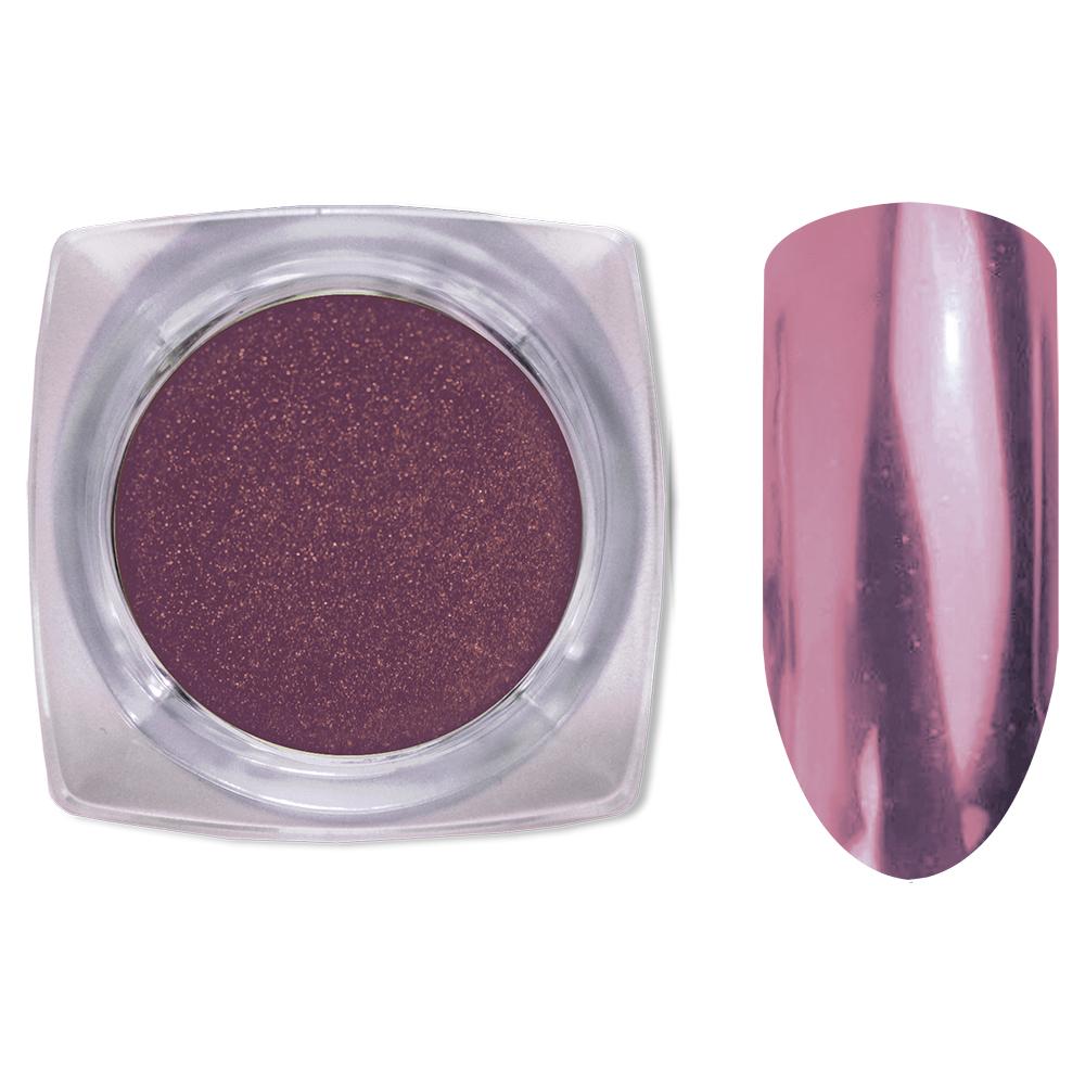 04 Зеркальный блеск ХРОМ втирка для ногтей 0,2 гр. Cosmake Темно-Розовая