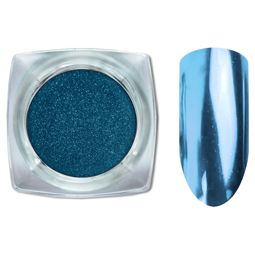 05 Зеркальный блеск ХРОМ втирка для ногтей 0,2 гр. Cosmake Синий