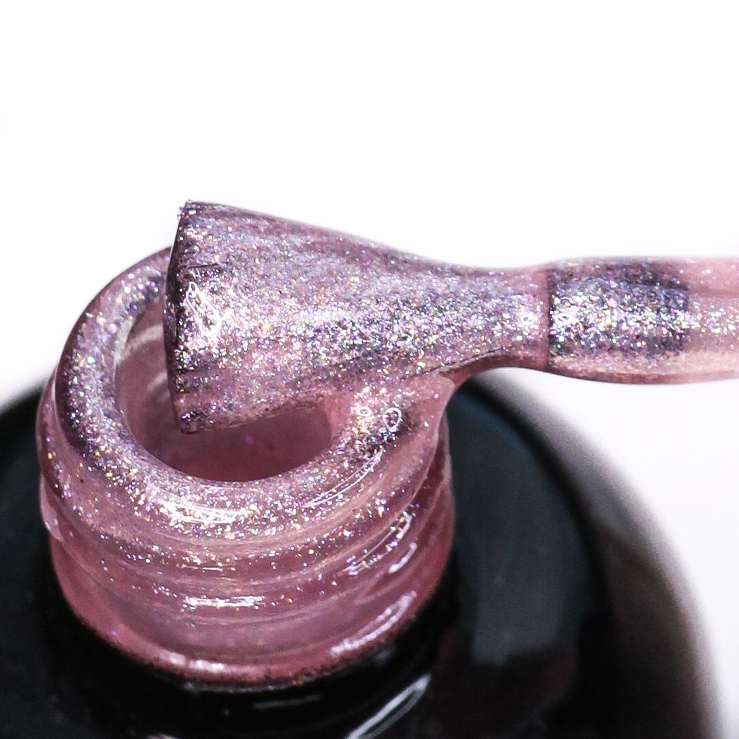 0048 Гель-лак с липким слоем 11мл Cosmake Прозрачно-Розовый с шиммером
