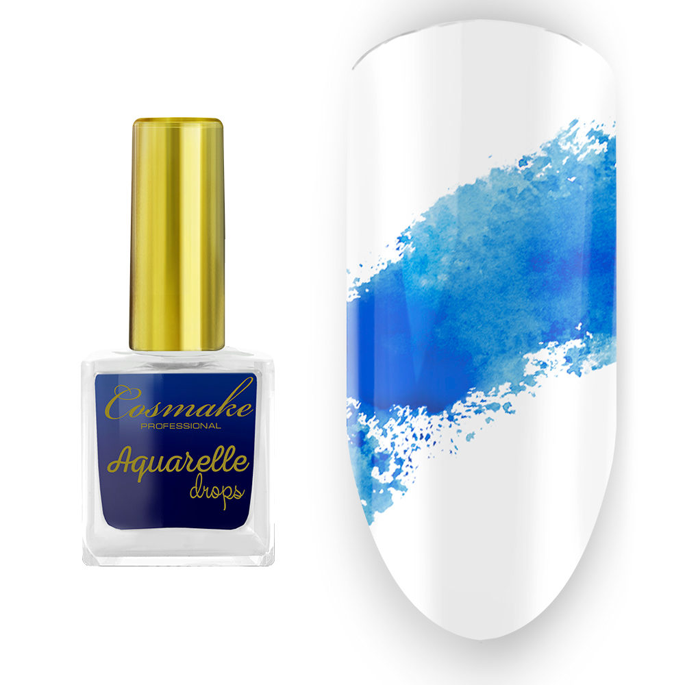 08 Краска Aquarelle Drops Голубая Cosmake 9 мл
