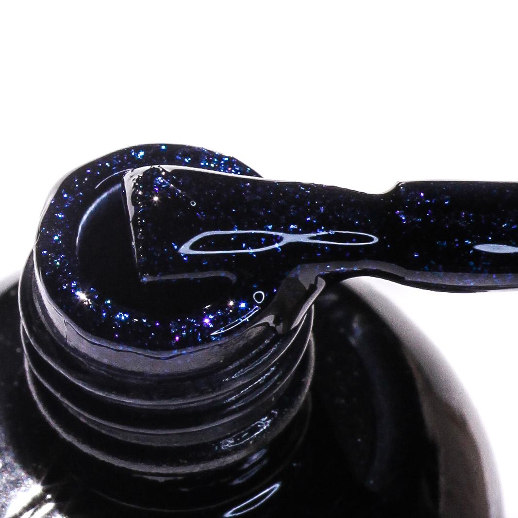 0113 Гель-лак с липким слоем 11мл Cosmake Синий с блестками