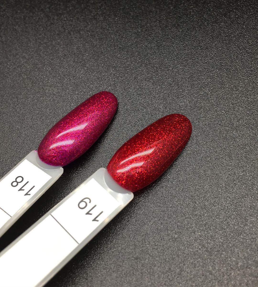 0118 Гель-лак с липким слоем 11мл Cosmake Розовый с блестками