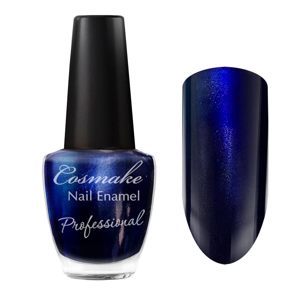 087 Лак для ногтей Professional Cosmake 16мл Синий Перламутровый