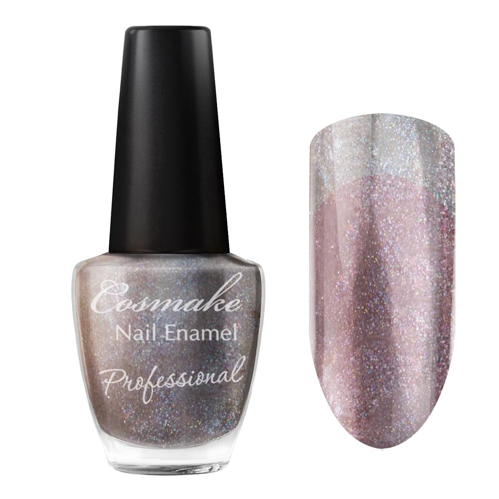 092 Лак для ногтей Professional Cosmake 16мл Прозрачный с шиммером
