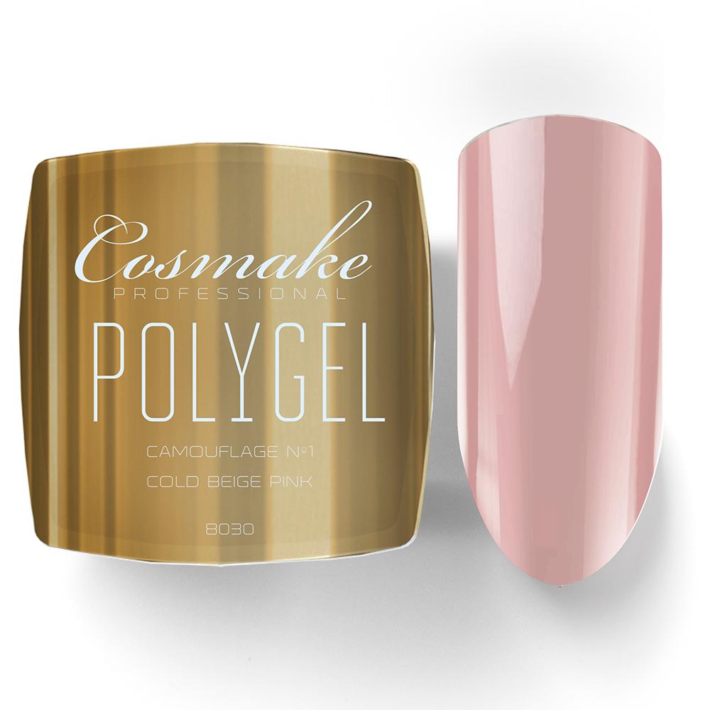 8030 Полигель телесно-розовый камуфляж  Cosmake Premium 15гр
