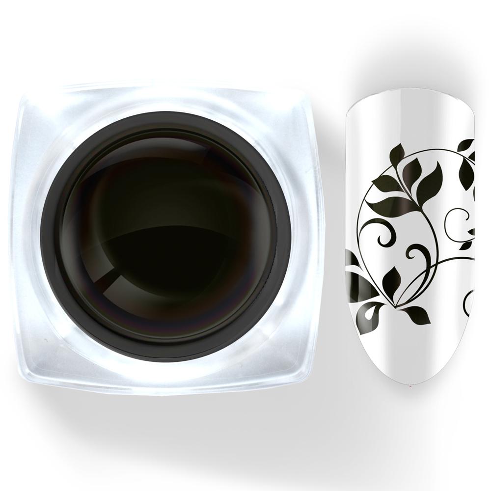 002 Гель-краска с липким слоем чёрная 5г Cosmake Premium
