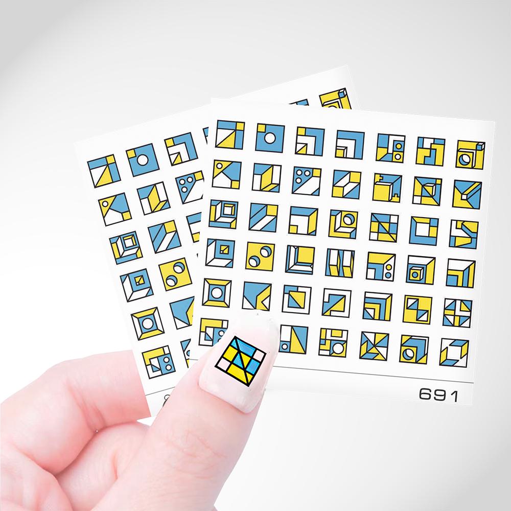 691 Слайдер Дизайн Cosmake Цветная Геометрия