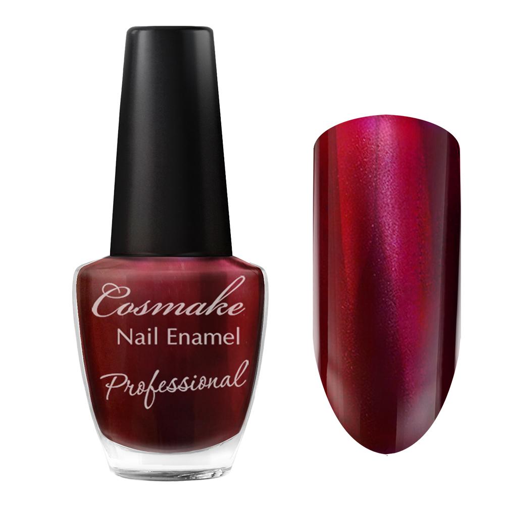 099 Лак для ногтей Professional Cosmake 16мл Вишневый металлик