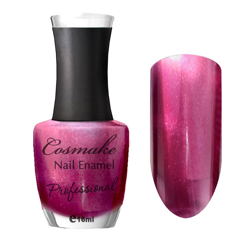 111 Лак для ногтей Professional Cosmake 16мл Малиновый с шиммером
