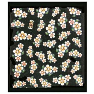 Наклейка для ногтей объемные 13 Френч-цветы