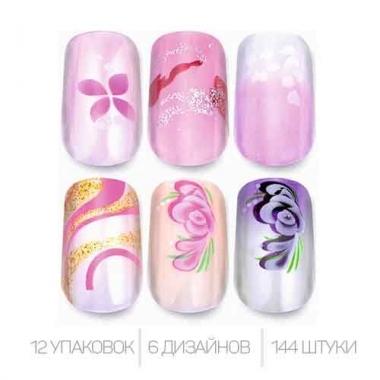 Ногти накладные CL-04 цветные