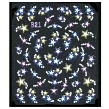 Наклейка для ногтей объемные 11 Звездочки