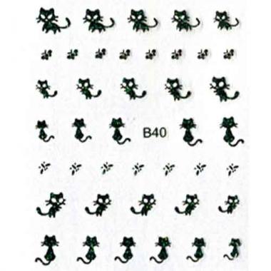 Наклейка для ногтей объемные 40 Котики 4