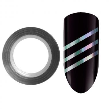 04 Лента для дизайна ногтей Color Line Серебро 3D