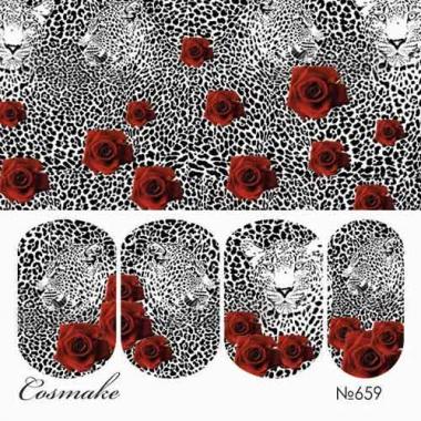 Слайдер дизайн 659 Леопард и розы