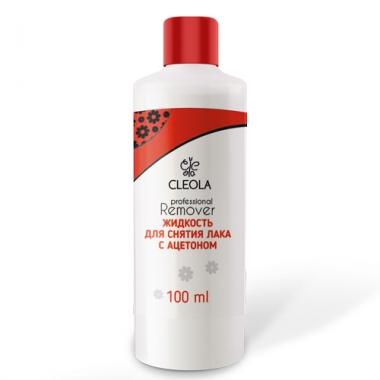 Жидкость д/снятия лака с ацетоном Cleola 100мл.