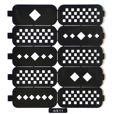 07 Трафарет для дизайна ногтей шахматы