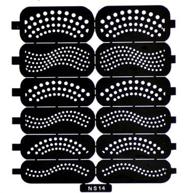Трафарет для дизайна ногтей 10 точки