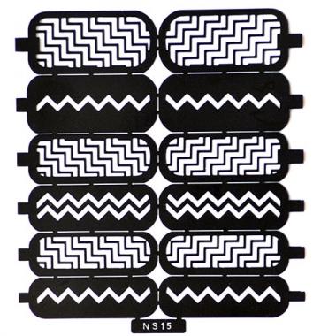 Трафарет для дизайна ногтей 11 молнии