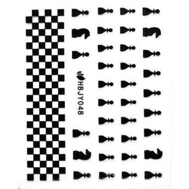 Наклейка для ногтей силиконовые 50 Шахматы