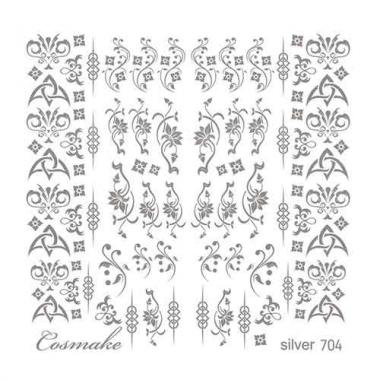 Слайдер Дизайн 704 фольг/серебро Геральдические узоры