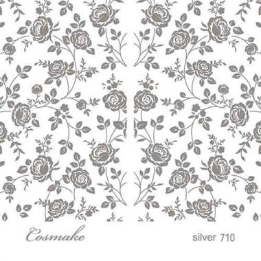 Слайдер Дизайн 710 фольг/серебро голография Винтажные Розы