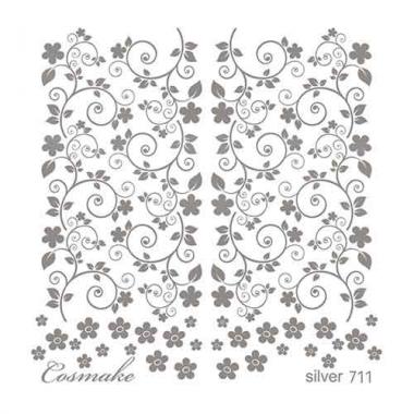 Слайдер Дизайн 711 фольг/серебро голография Изящество